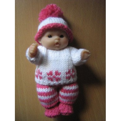 "5"" Berenguer Doll Winter Sweater Set"