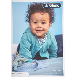 Baby Jacket in Patons Cotton Bamboo - Leaflet