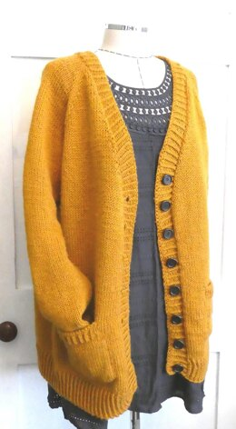Paprika Mustard Classic Knitted Cardigan Jacket