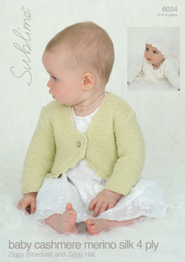 Ziggy (Stardust) and Ziggy Hat in Sublime Baby Cashmere Merino Silk 4Ply - 6034 - Downloadable PDF