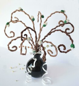 Pussy Willow Tree Branch. Curly Willow. Easter egg tree