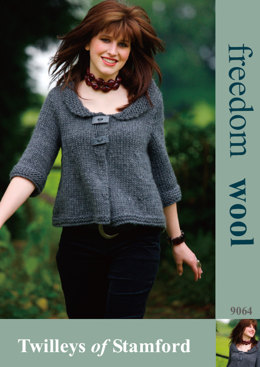Knitted Swing Jacket in Twilleys Freedom Wool - 9064