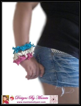 Crochet Bracelet Pattern Beginner Shaggy Bangle