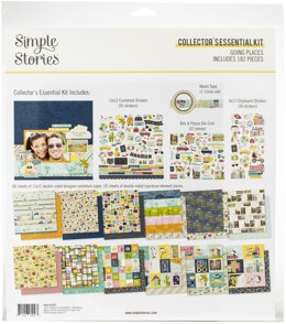 """Simple Stories Collector's Essential Kit 12""""X12"""" - Going Places"""