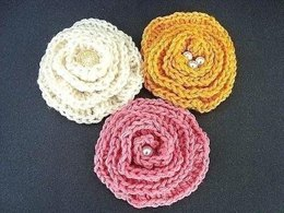 Big Elegant Brooch Flower | Crochet Pattern by Ashton11