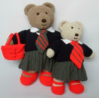 b3b119a7f6a Cuddle and Snuggle Teddy Bear Clothes - School Uniform Knitting pattern by  Laineknits