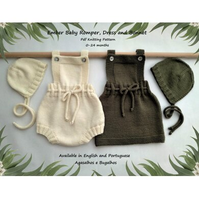 Ember Baby Romper, Dress and Bonnet
