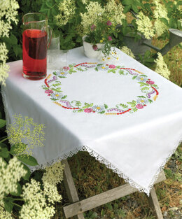 Anchor Summer Flowers Embroidery Tablecloth Kit - 9240000|9333