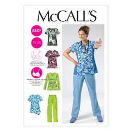 McCall's Misses'/Women's Scrubs Tops and Pants M6473 - Sewing Pattern