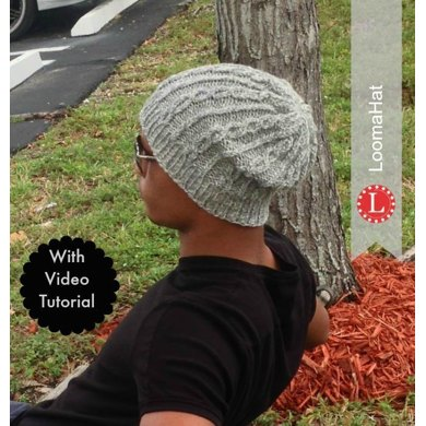 Loom Knitting Pattern Chain Links Slouchy Hat Loom Knitting Pattern
