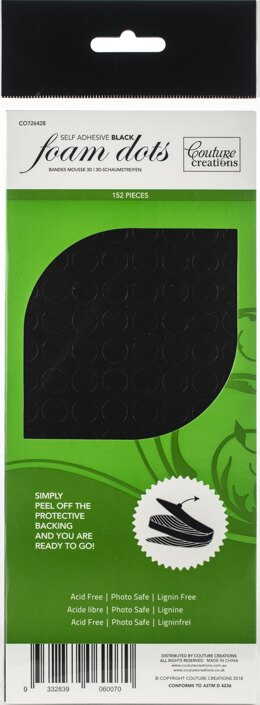 Artdeco Creations Couture Creations 3D Adhesive Foam Dots - Black