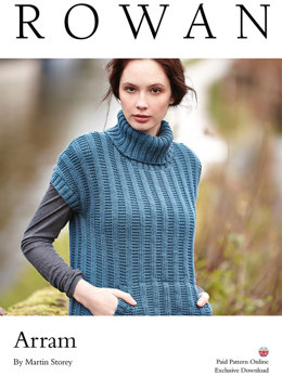 Arram Sweater in Rowan Super Fine Merino Aran - D102