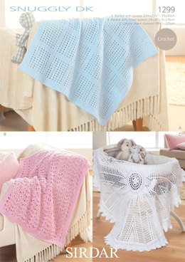Blankets and Shawl in Sirdar Snuggly DK - 1299 - Downloadable PDF