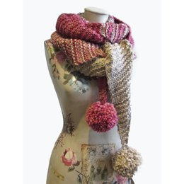 Raspberry Meringue Scarf