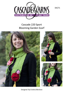 Blooming Winter Scarf in Cascade 220 Sport - DK271