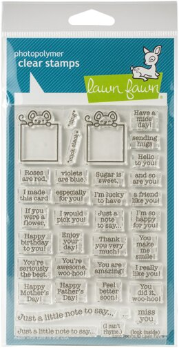 "Lawn Fawn Clear Stamps 4""X6"" - Love Poems"
