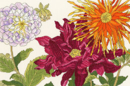 Bothy Threads  Dahlia Bloom Cross Stitch Kit