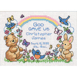 Dimensions God's Babies Birth Record Cross Stitch Kit - 7 x 5 inches