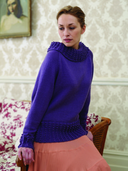 Bobble Rib Sweater in Debbie Bliss Rialto DK - CMDK01
