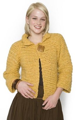 Crochet Matinee 'Swing' Jacket in Lion Brand Homespun - 60122