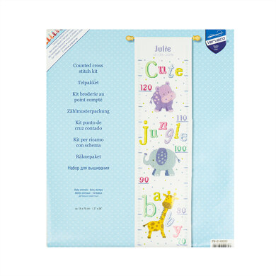 VervacoCounted Cross Stitch Height Chart: Baby Animals Cross StitchKit