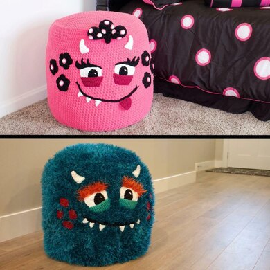 Monster Pouf (Pouffe) Crochet Pattern