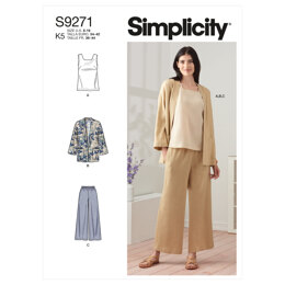 Simplicity Misses' Jacket, Top & Pants S9271 - Sewing Pattern