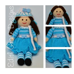 Pansy - A Winter Rag Doll Knitting Pattern