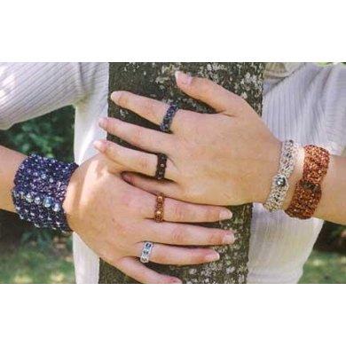 Egyptian Beaded Wristlets and Rings