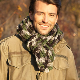 Men's Scarf in Bernat Softee Chunky - BRC0425-000081M - Downloadable PDF