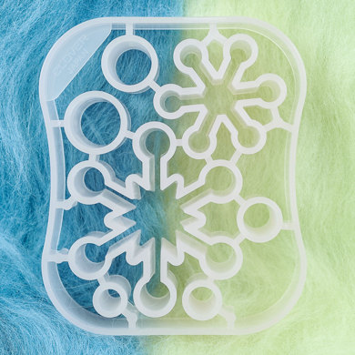 Clover Needle Felting  Mold - Snow Crystal