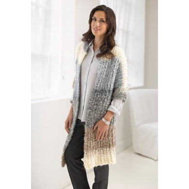 Casual Comfort Jacket In Lion Brand Homespun Thick Quick L30130