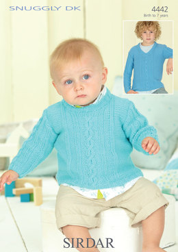 Boy's and Baby's Sweaters in Sirdar Snuggly DK - 4442