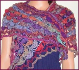 Shell Stitch Crocheted Shawl in Crystal Palace Yarns Sausalito