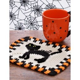 Scaredy Cat Dishcloth in Lily Sugar 'n Cream Solids