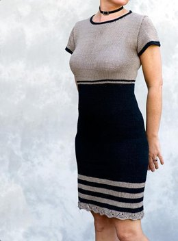 Yvette - Knitted dress with lace border