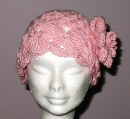 Pink Vintage Look Flower Hat
