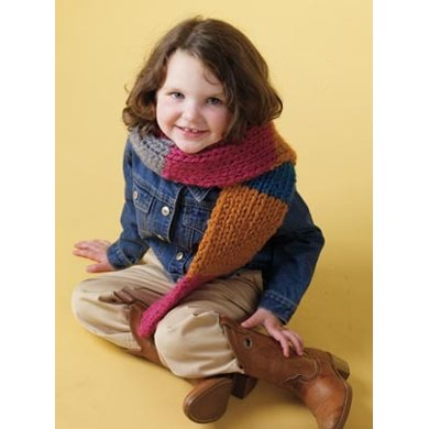 Bright Idea Scarf Lion Brand Wool-Ease Thick & Quick - 60319