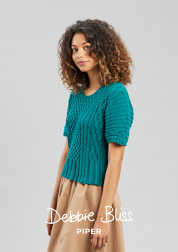 """Lois"" - Top Knitting Pattern For Women in Debbie Bliss Piper - DB188"