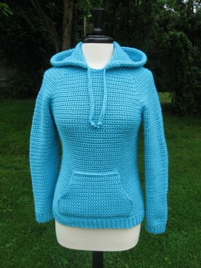 Ever in style Raglan Hooded Pocket Pullover