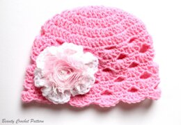 Girls Hat with Flower