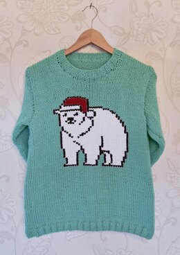 Intarsia - Polar Bear Chart  - Adults Sweater