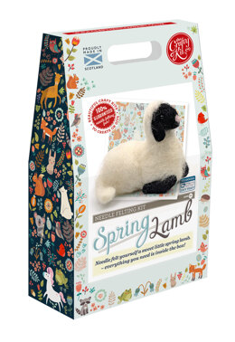 The Crafty Kit Company Spring Lamb Needle Felting Kit - 140 x 240 x 65mm