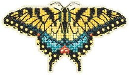 Mill Hill Yellow Swallowtail Cross Stitch Kit - Multi