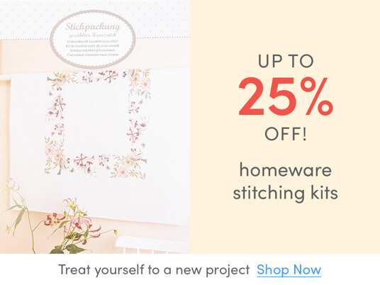 Up to 25 percent off homeware stitching kits