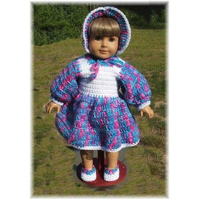 AG Bonnet and Dress Set