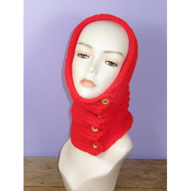 Sideways Fishermans Rib Stitch Button Up Cowl / Snood