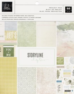 """American Crafts Heidi Swapp Storyline Chapters Project Pad 7.5""""X9.5"""" - The Scrapbooker, 106 Pieces"""