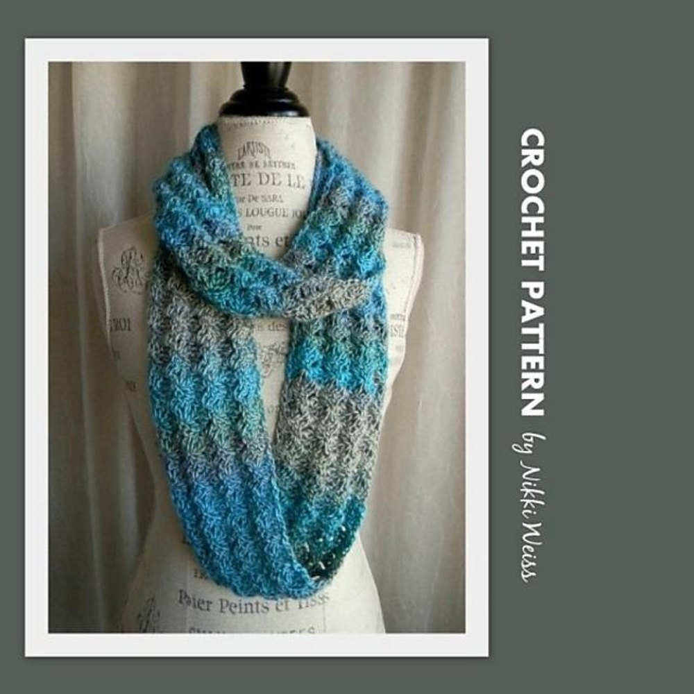 Unforgettable Infinity Scarf Cowl Crochet Pattern By