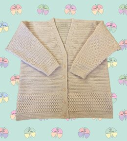 Easy Patterned Panel Lady's Crochet Cardigan